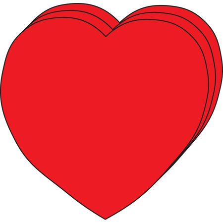 Large Single Color Cut-Out - Heart - Heart Cut Outs