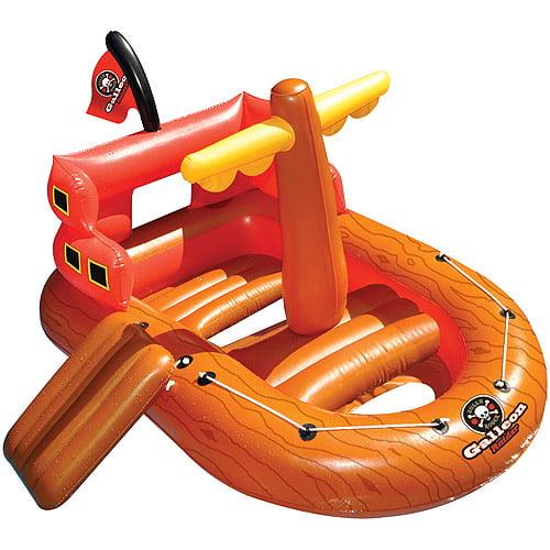 Swimline Vinyl Galleon Raider Inflatable Pool Toys, Orange by INTERNATIONAL LEISURE PRODUCTS