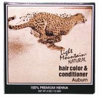Hair Color & Conditioner- Auburn Light Mountain 4 oz Powder