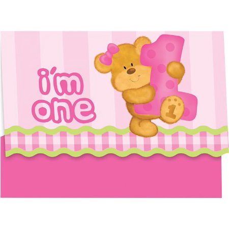 Bear 1st birthday girl invitations 895431 walmart bear 1st birthday girl invitations 895431 filmwisefo