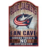 Columbus Blue Jackets WinCraft 11'' x 17'' Fan Cave Wood Sign