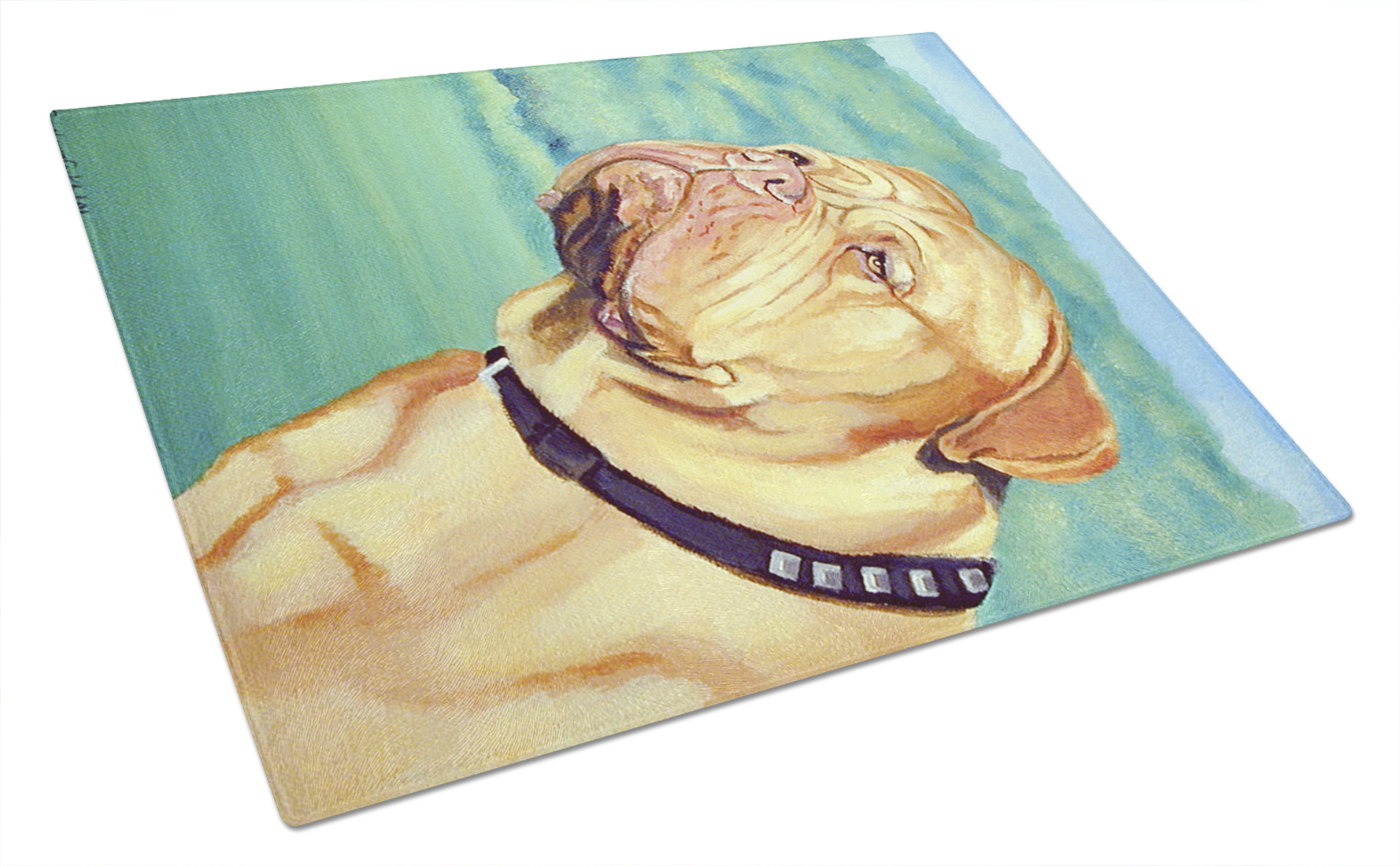 Dogue de Bordeaux Glass Cutting Board Large by Caroline's Treasures