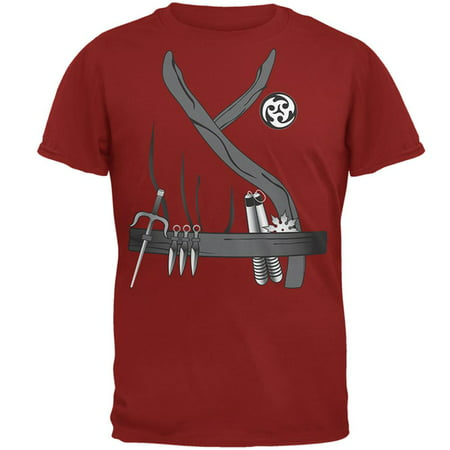 Halloween Ninja Assassin Costume Mens T Shirt (Assassini Halloween)