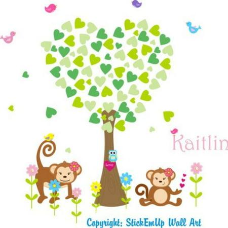 Baby Nursery Wall Decals Safari Jungle Children's Themed 95