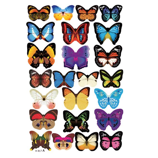 24pcs Decal Wall Stickers Home Decorations 3D Butterfly Rainbow