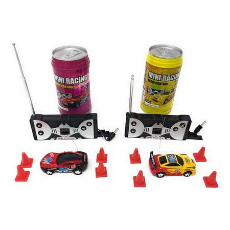 Mini RC Remote Control Car - 2 Pcs Set - Smallest Race Cars For Kids STYLES