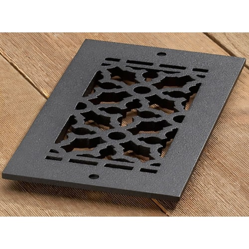 "Reggio Registers 610-NH Scroll Series 8"" x 4"" Floor Grille without Mounting Holes"