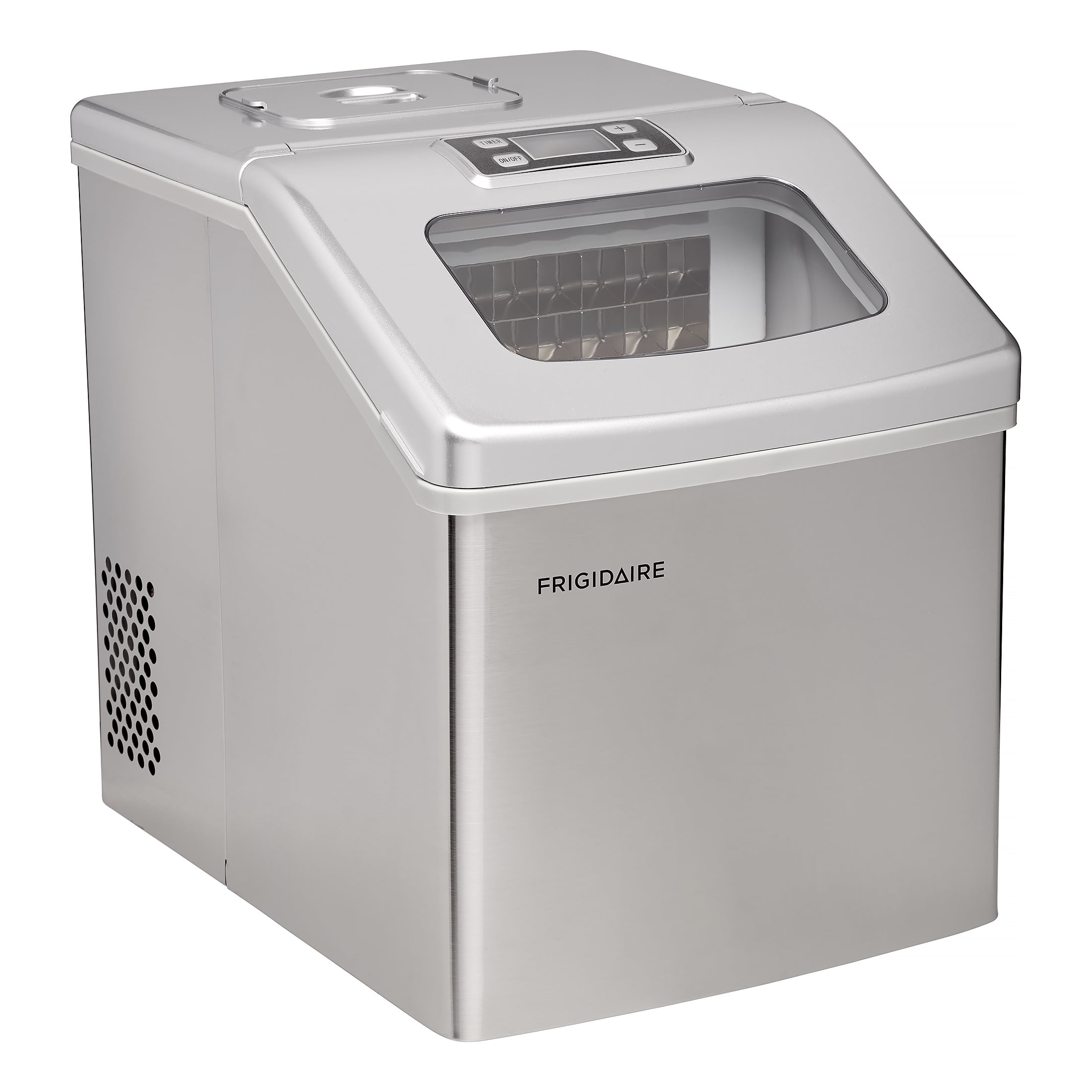 Frigidaire 40 Lbs Countertop Clear Square Ice Maker Stainless