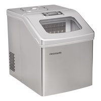 Frigidaire 40 lbs. Daily Capacity Countertop Clear Square Ice Maker, Stainless Steel