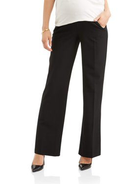 Maternity Oh! Mamma Wide Leg Career Pant with Full Panel (Available in Plus Sizes)