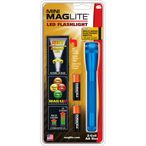Mini MagLite LED 2-Cell AA Flashlight, Blue