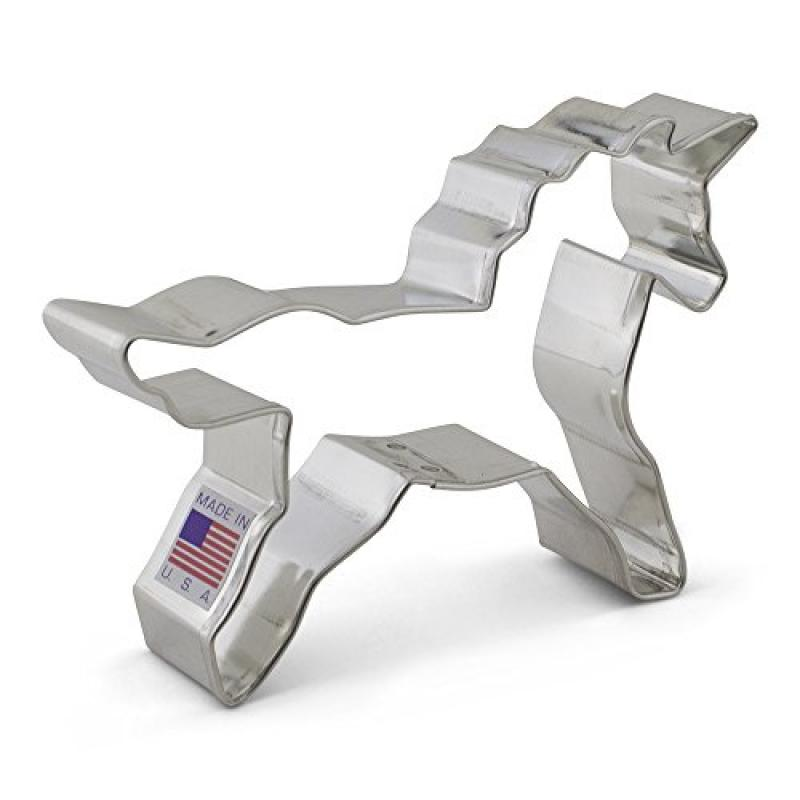 Ann Clark Unicorn Cookie and Fondant Cutter - 4.5 Inches - US Tin Plated Steel