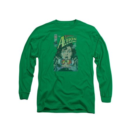 Superman DC Comics Lois Lane Secret Revealved Adult Long Sleeve T-Shirt Tee (Lois Lane And Superman Costume)