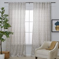 MoDRN Neo Luxury Geo Print Curtain Panel Pair