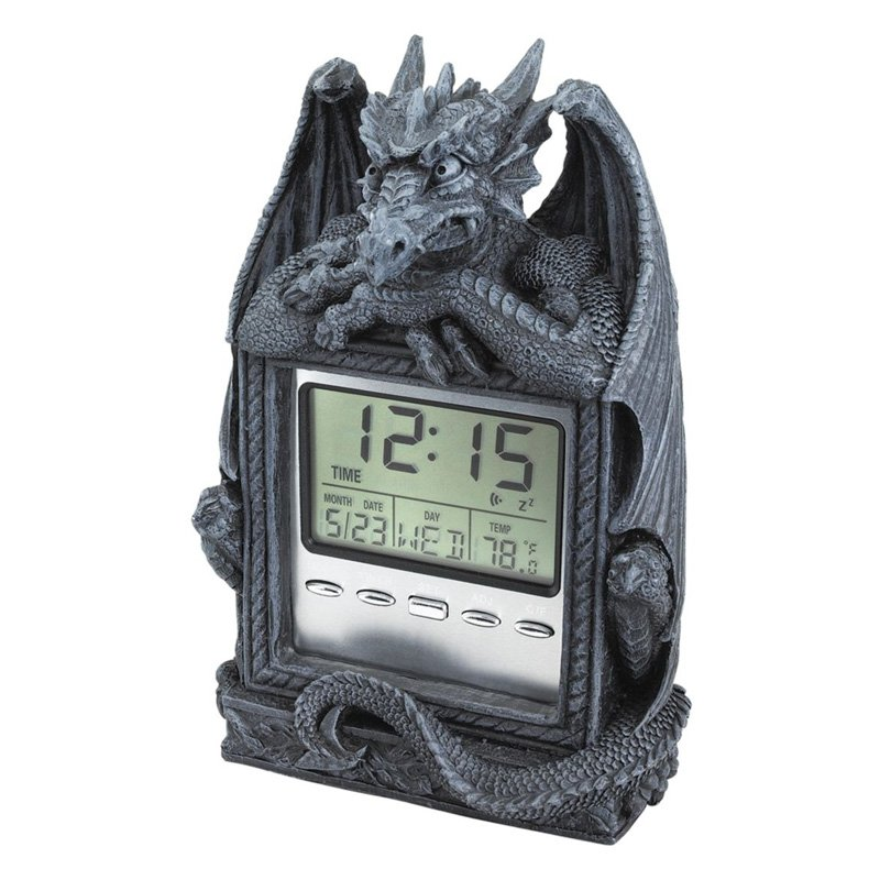 Design Toscano Inc Dragon's Time LCD Alarm Clock