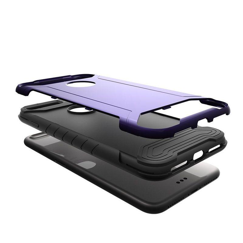 Insten Hard Hybrid TPU Cover Case For Apple iPhone 7 Plus - Purple/Black