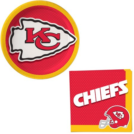 Kansas City Chiefs Decoration 24pc Party Pack, Red Yellow