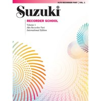 Alfred 00-0557S Suzuki Recorder School- Alto Recorder Recorder Part- Volume 1 - Music Book