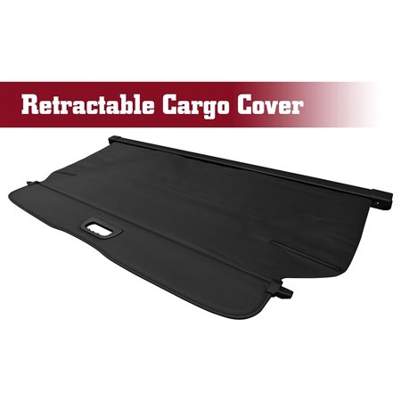 TAC Cargo Cover for 2012-2014 Honda CRV Black Retractable Waterproof Rear Trunk Cargo Luggage Security Shade Cover Shield