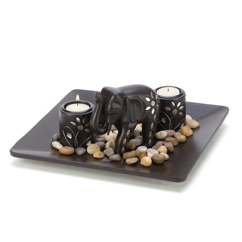 Zingz & Thingz 4 Piece Elephant Candle Holder Set by Home Locomotion