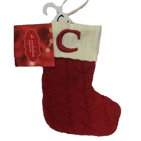 Letter Christmas Stockings.St Nicholas Square Mini 7 In Knit Monogram Christmas Stocking Letter C