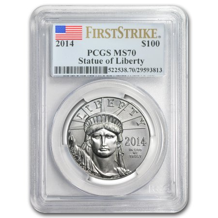2014 1 Oz Platinum American Eagle Ms 70 Pcgs  First Strike