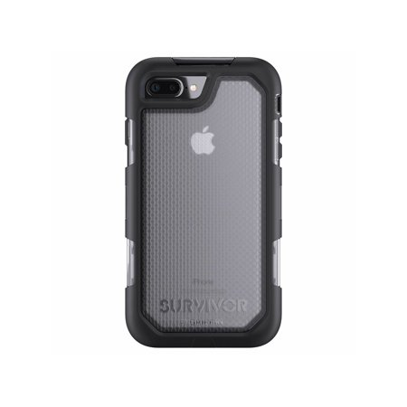 on sale ae7dd b9df5 iPhone 7 Plus Rugged Case, Survivor Summit Impact Resistant Case with  Holster, Black/Clear - Maximum Drop Protection & Rain-Proof Case