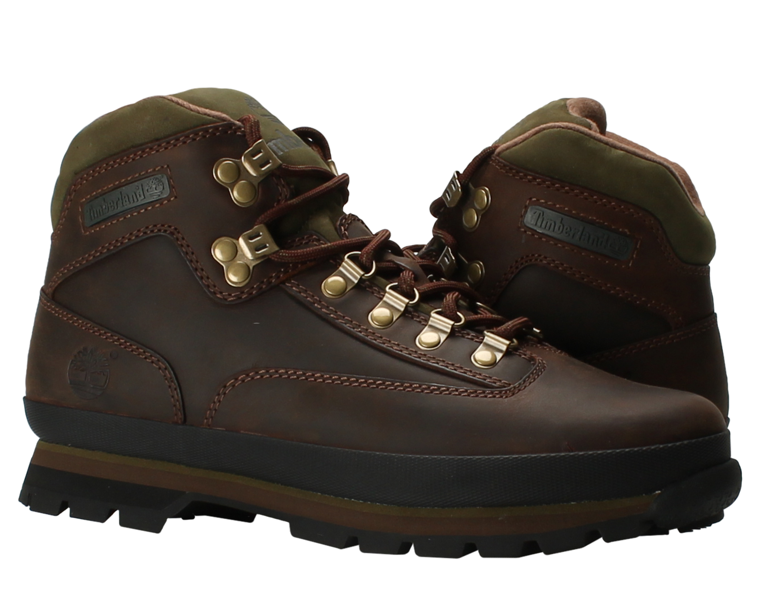 Timberland Euro Hiker Oiled Leather Brown Men's Hiking Boots 95100 by Timberland