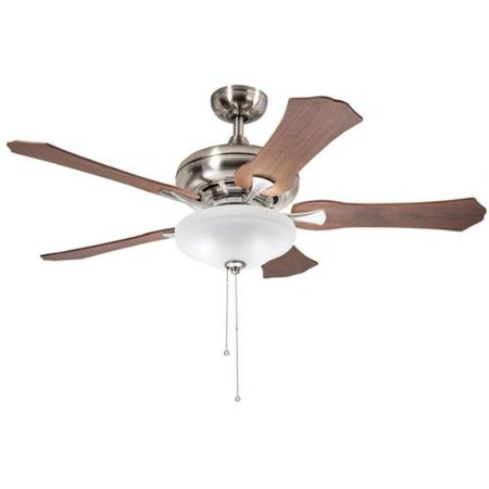 Aztec Lighting Kichler Lighting Traditional Brushed Nickel 52 inch Ceiling Fan with 3-light Kit and Reversable Blades