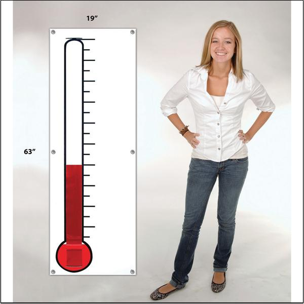 (Price/each)Thermometer Fundraising Banner