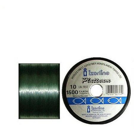 Izorline Platinum Green Premium Copolymer Monofilament 1/4lb Spool,