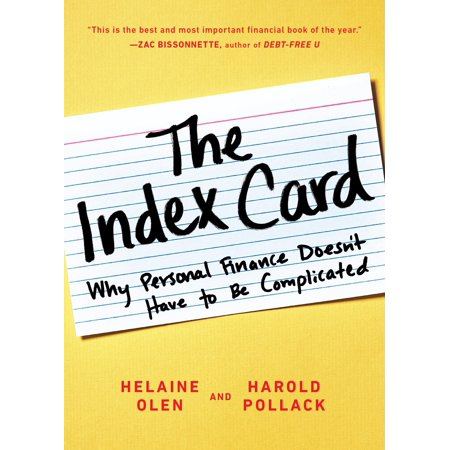 The Index Card : Why Personal Finance Doesn't Have to Be