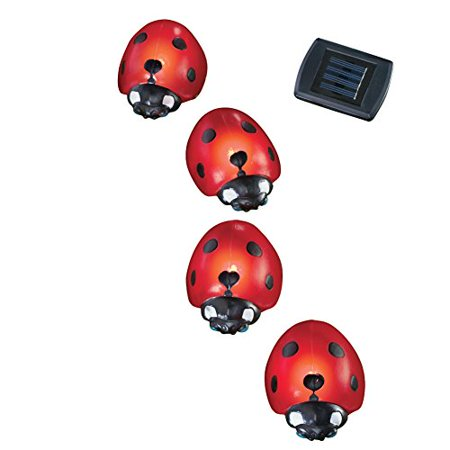 Solar Ladybug Garden Light Stakes - Set Of (Lighted Lawn Stakes)