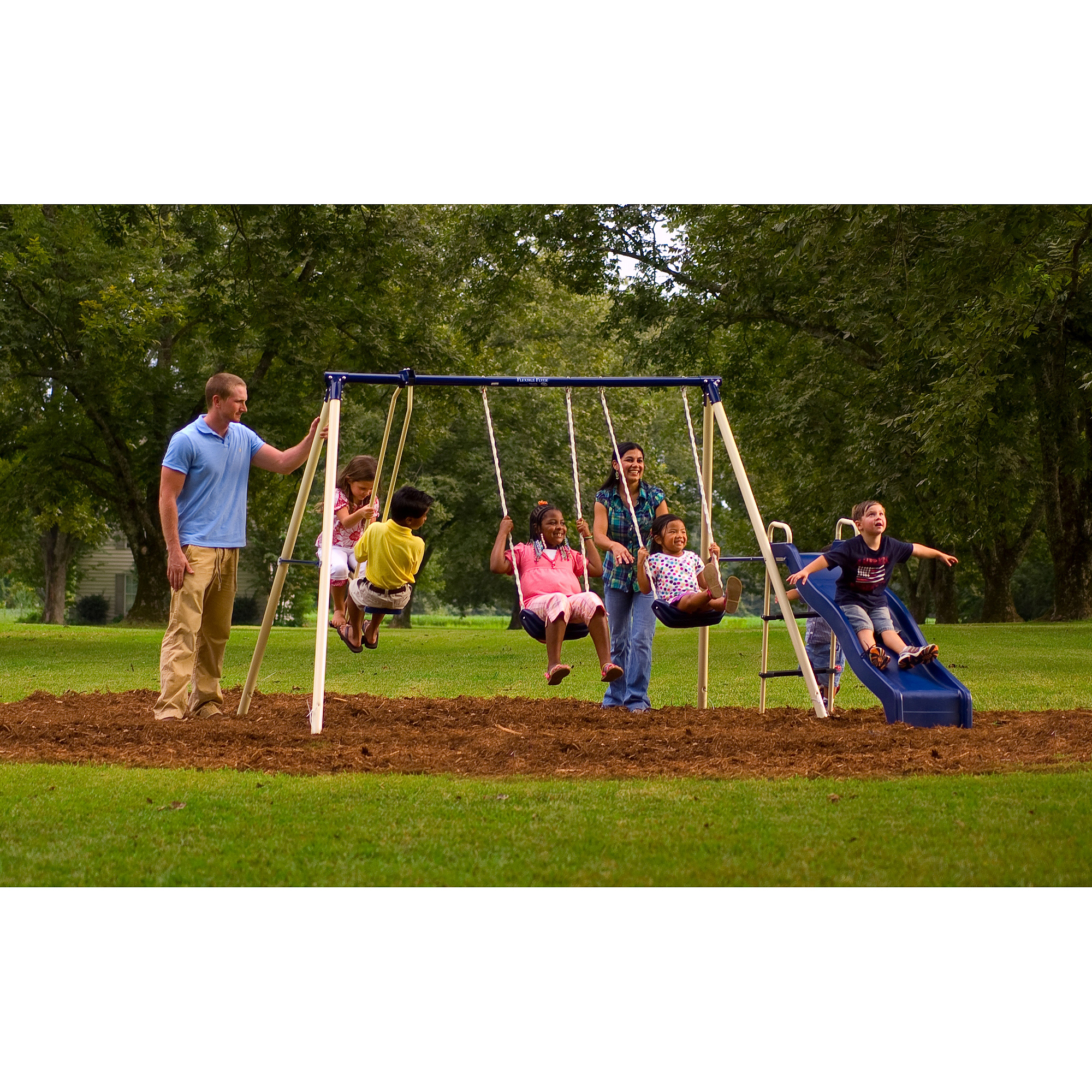 Flexible Flyer Swing 'N Glide Metal Swing Set