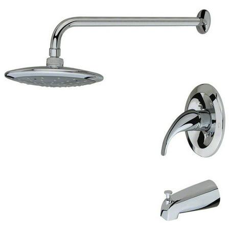 Sir Faucet 750 Chrome Three Piece Rain Head Shower Set