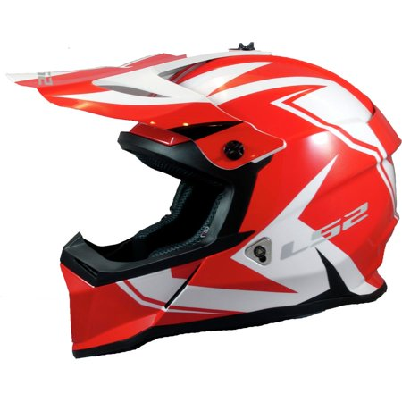 LS2 Fast V2 MX437 Mini Two Face Youth MX Offroad Helmet White/Red