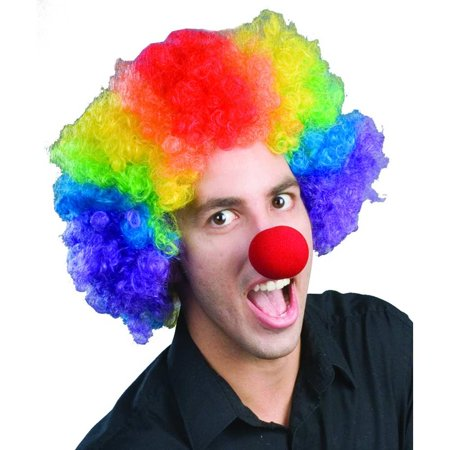 Rainbow Economy Clown Wig (Rainbow Wig Party City)