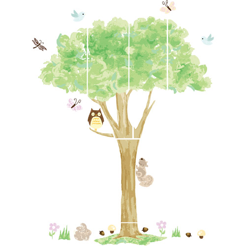 WallPops Baby Treehouse Wall Art Decals Kit