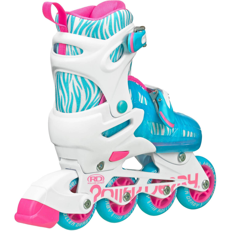 Zebra roller skates - Roller Derby Rd 2n1 Inline Quad Roller Skates Combo Girl Walmart Com