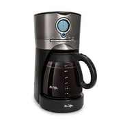 mr. coffee 12-cup black stainless coffee maker