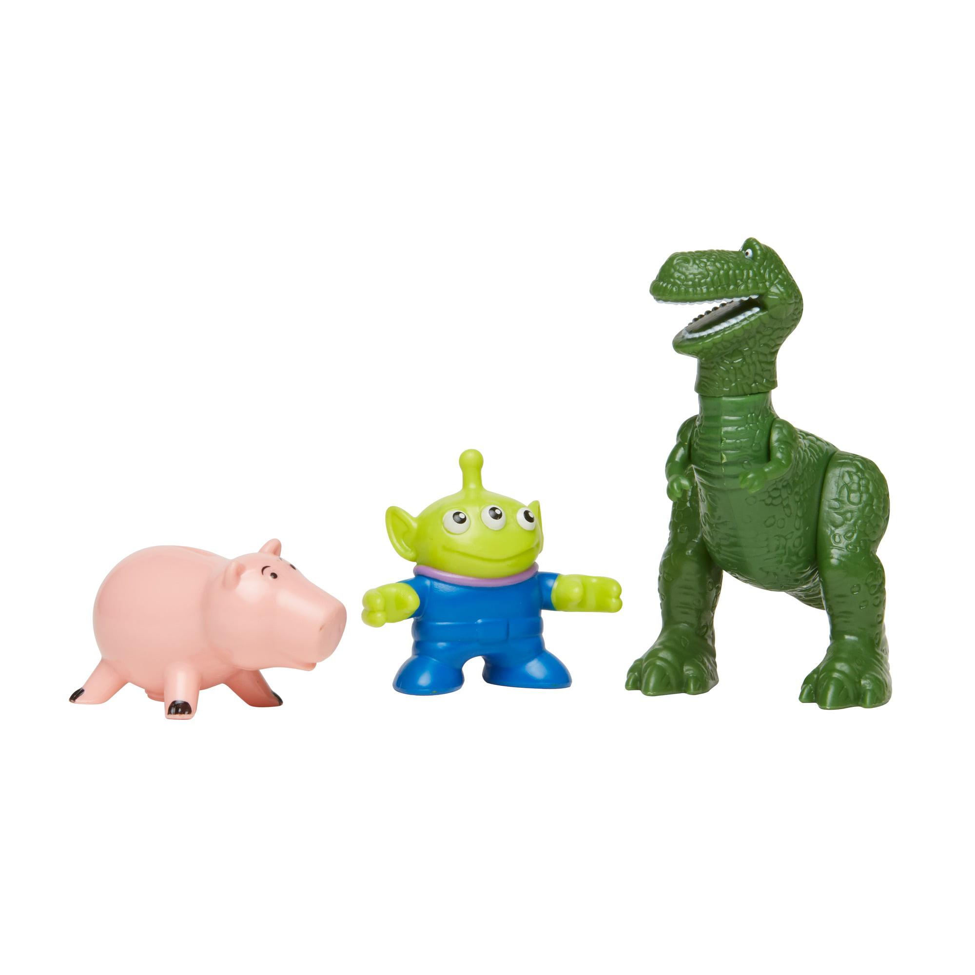 Imaginext Disney/Pixar Toy Story 4 Rex, Ham, & Alien Character Figures