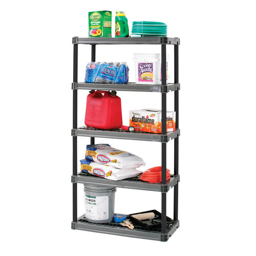 Plano 5 Shelf 36in x 18in x 73.75in Storage Shelving Organizer