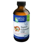 Sweet Almond Oil 100% Pure & Natural Earth's Care 8 oz Oil