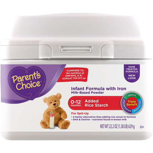 Parent's Choice Added Rice Starch Powder Formula with Iron, 22.2 oz
