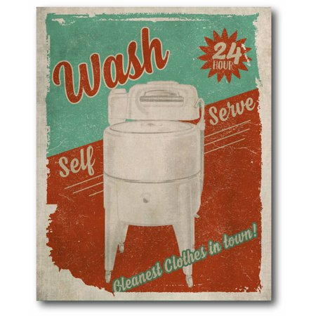 Courtside Market Laundry Room Gallery-Wrapped Canvas Wall Art, 16x20 ()