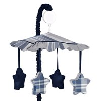Sweet Jojo Designs Plaid Collection Navy Blue/Grey Musical Mobile