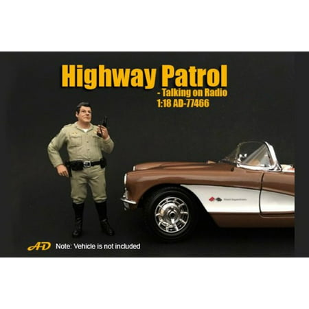 Highway Patrol Talking on Radio, American Diorama 77466 - 1/18 Scale Accessory for Diecast