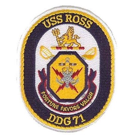 USN NAVY SHIP USS ROSS DDG-71 PATCH ARLEIGH BURKE CLASS DESTROYER QUAD CRUISER