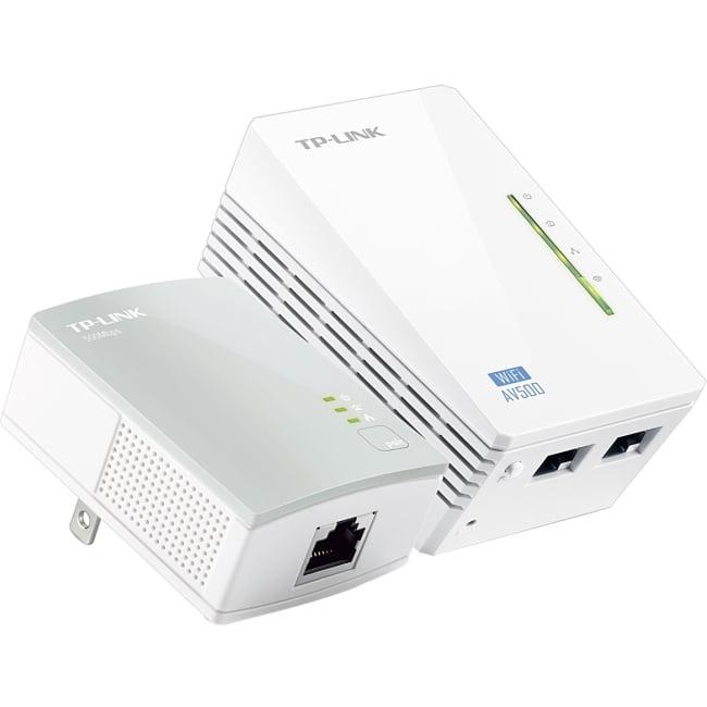 TP-LINK TL-WPA4220KIT ADVANCED 300Mbps Universal Wi-Fi Range Extender, Repeater, AV500 Powerline Edition, Wi-Fi Clone Button, 2 LAN Ports - 2 x Network (RJ-45) - 500 Mbps Powerline - 984.25 ft Distanc