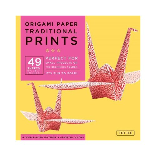 "Origami Paper Traditional Prints 8 1/4"" 49 Sheets"